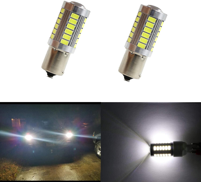 1156 Reverse Led 12V 33pcs 5630SMD LED P21W Led Reverse Light CanBus BA15S Led Bulb Backup Light (Pack of 2)