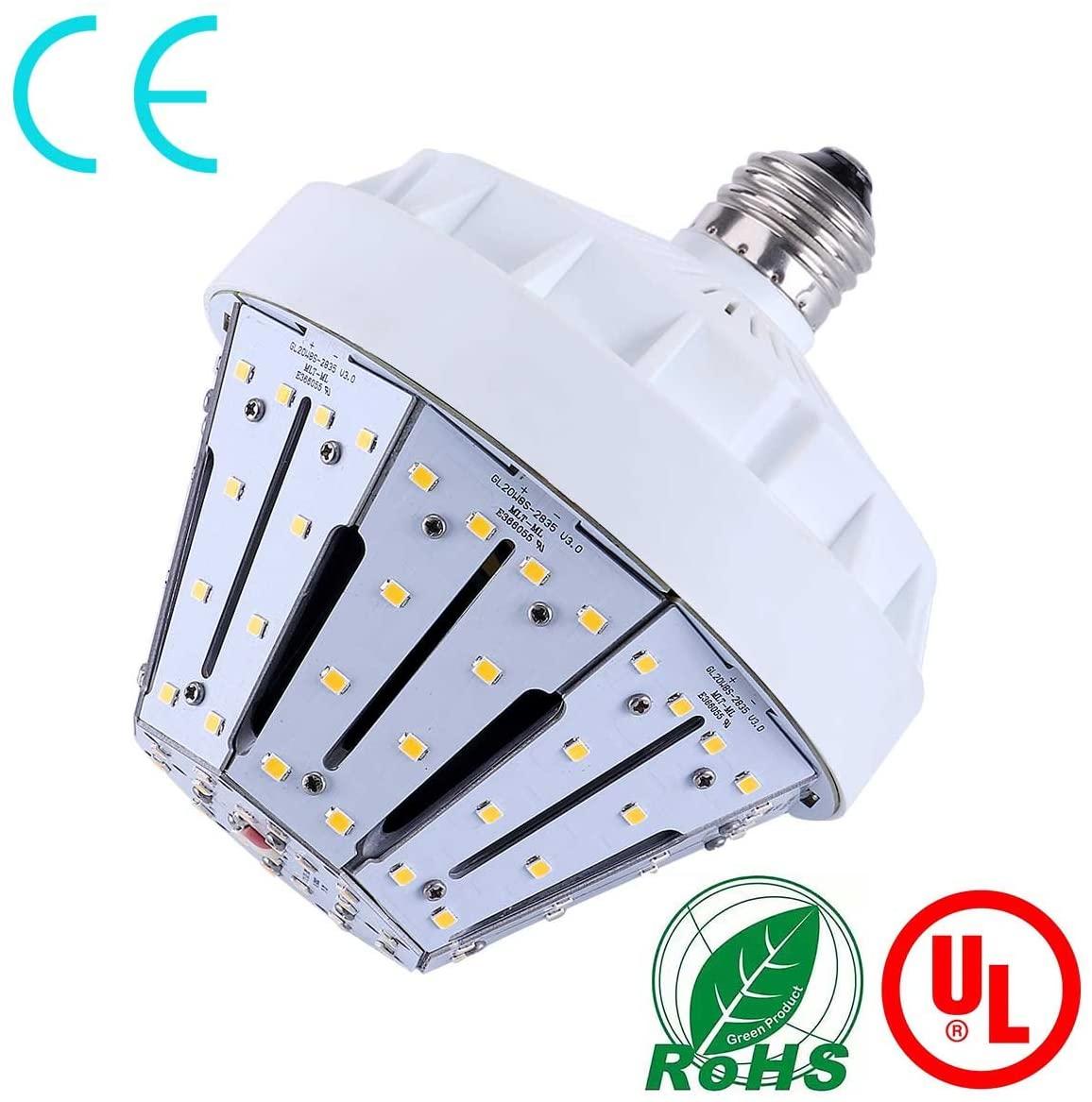 20 Watt(200 Watt Equivalent) LED Corn Bulb,3300 Lumen 5000K,Cool Daylight White LED Street & Area Light,E26 Medium Base,for Outdoor Garage Warehouse High Bay Barn Backyard,Super Bright