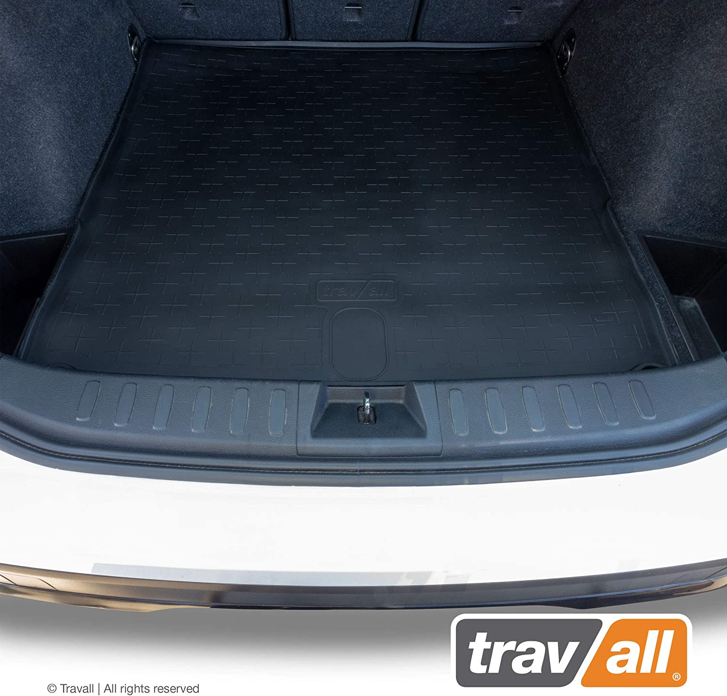 Travall Liner Compatible with BMW X1 E84 (2009-2015) TBM1068 - All-Weather Black Rubber Trunk Mat Liner