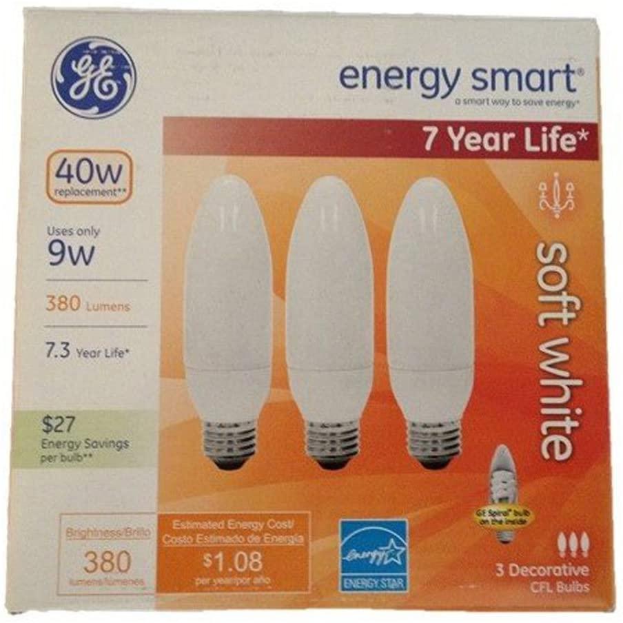 GE Energy-Smart Soft White CFL Medium Base, 9W Light Bulbs (40 Watt Equivalent) (9.0 Watt)