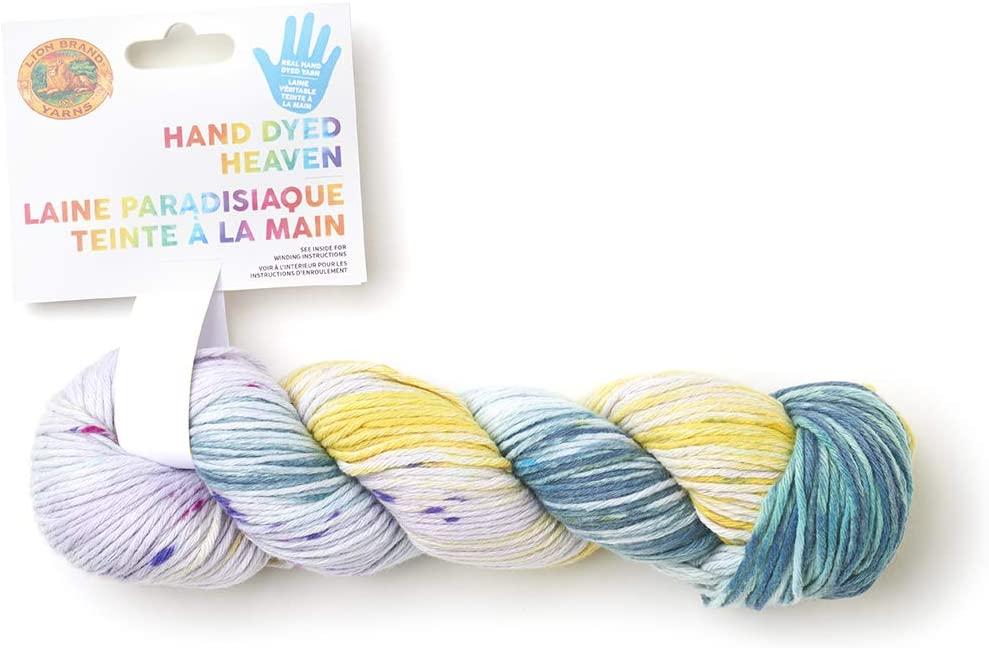 Lion Brand Yarn 186-201 Hand Dyed Heaven Yarn, One Size, Dayglow