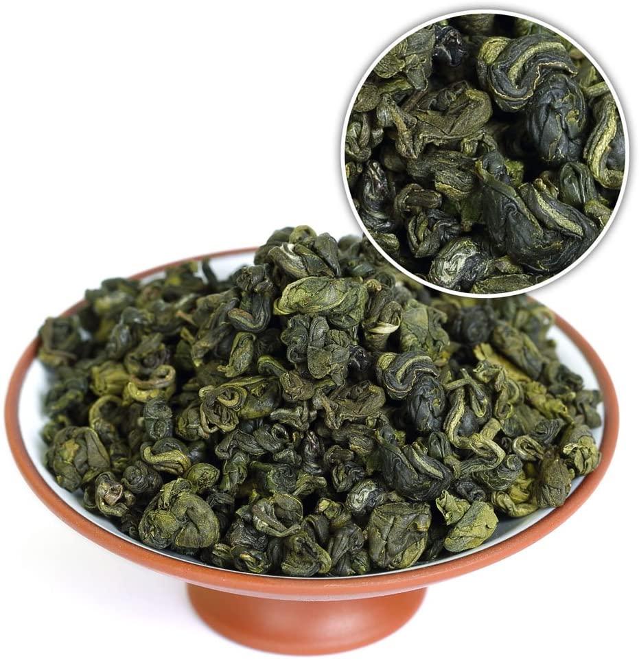 GOARTEA 100g (3.5 Oz) Premium Organic SuZhou Bi Luo Chun BiLuoChun Spring Leaf Snail Chinese Green Tea (Snail) shape