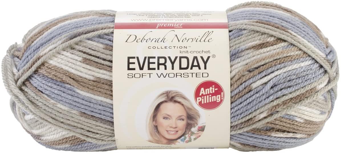 Premier Yarns Deborah Norville Collection Everyday Soft Worsted Prints Yarn: Beach
