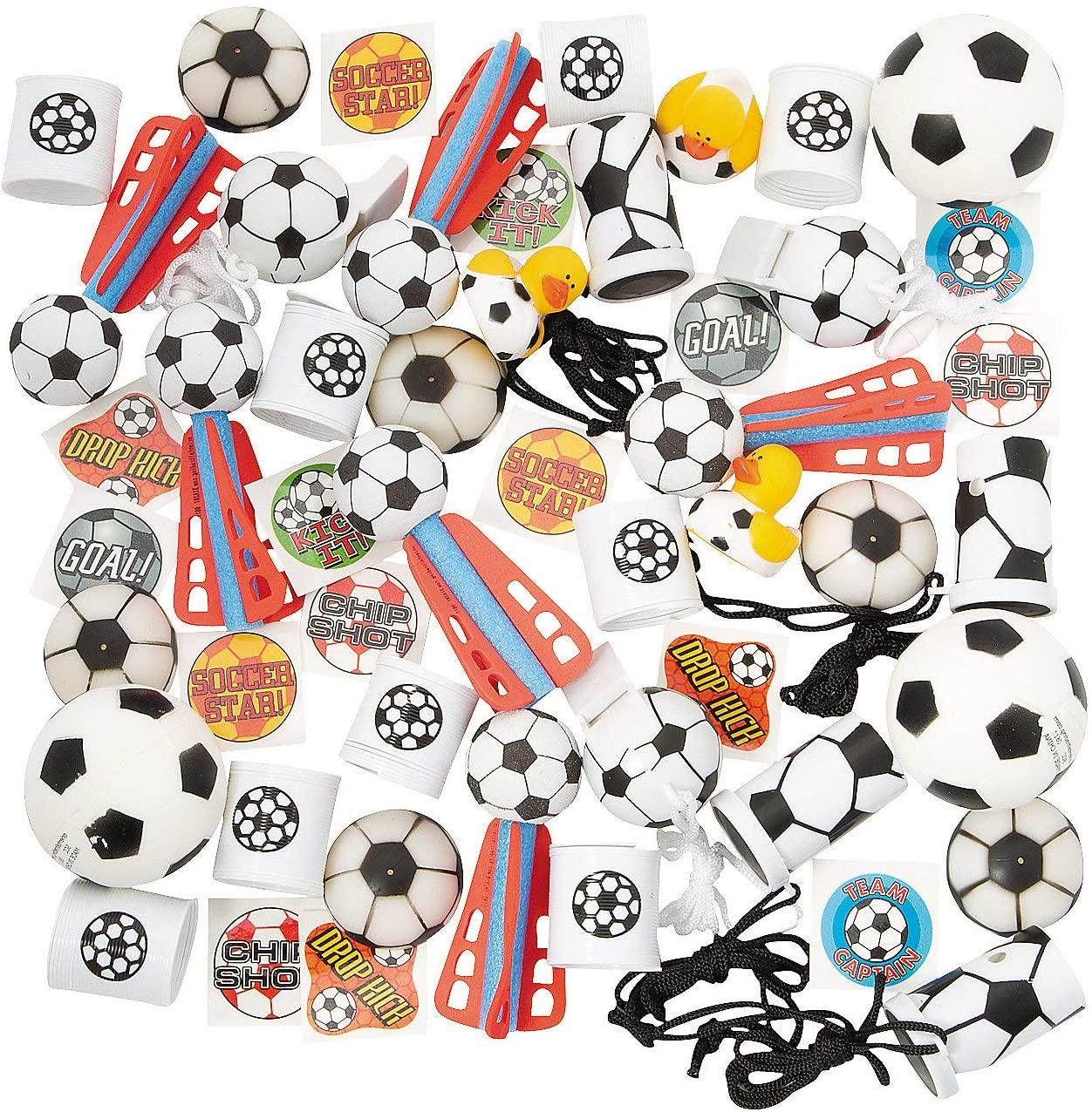Fun Express - Soccer Assortment (50pc) - Toys - Assortments - 50Pc Assortments - 50 Pieces