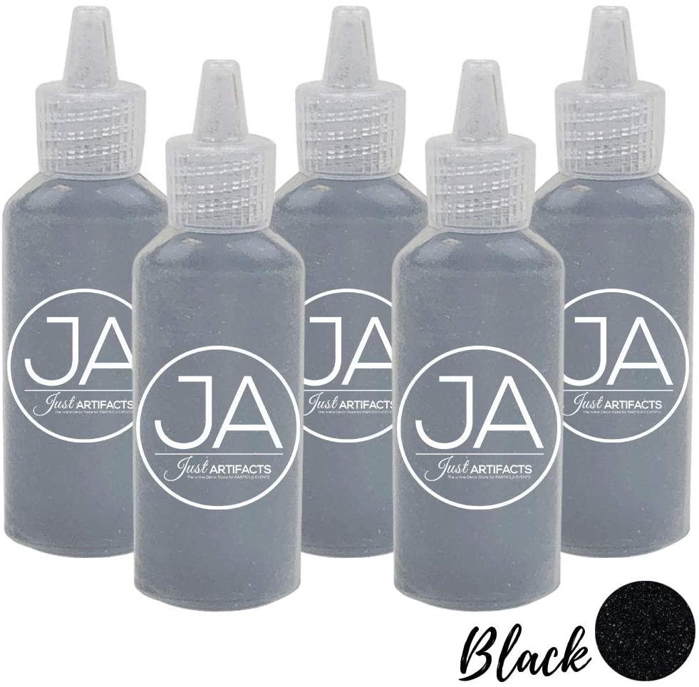 Just Artifacts Craft/Terrarium Sand 1.25oz Bottles (5pcs, Black)