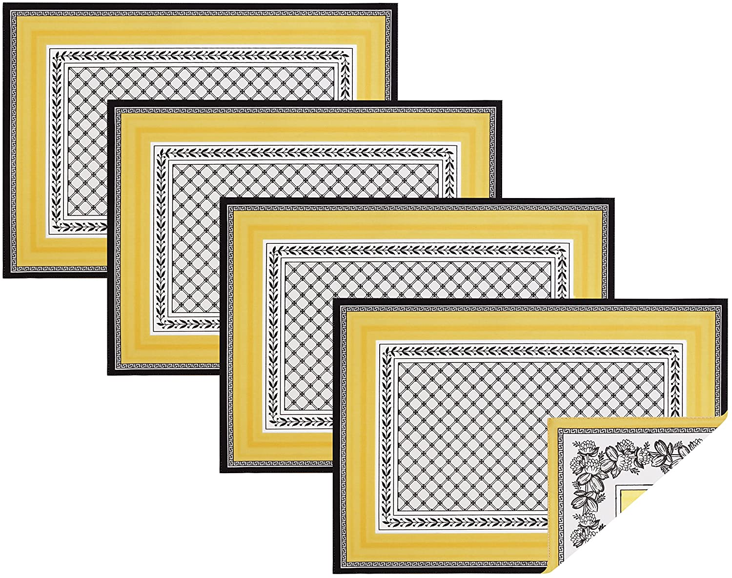 Villeroy and Boch Audun Cotton Fabric Reversible Placemat (Set of 4), 14