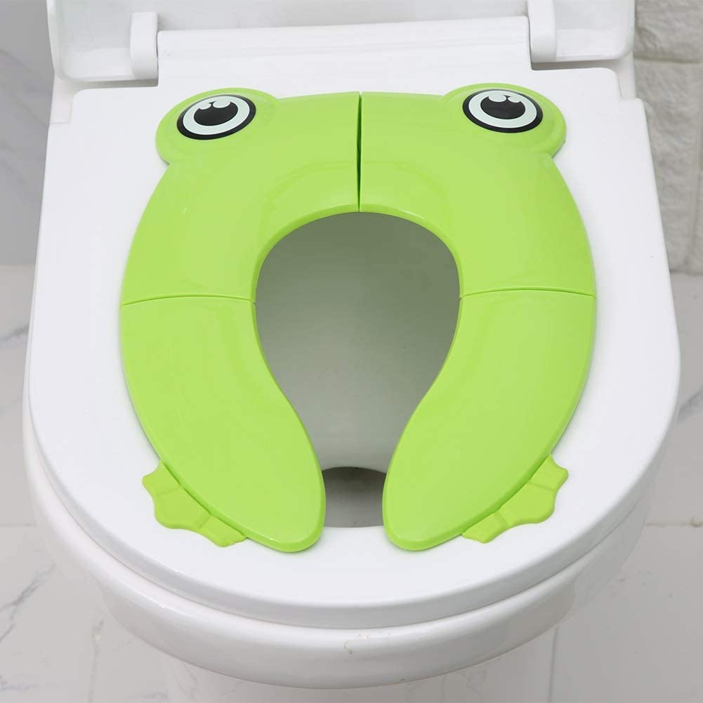 Jadeshay Toilet Seat Pad - Portable Kids Folding Potty Seat Pad, Toddler Toilet Training Cushion