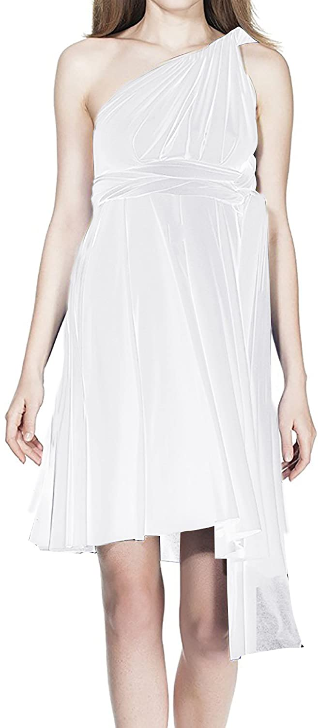 Womens Transformer Convertible Multi Way Wrap Evening Dress Halter Wedding Formal Party Cocktail Long Prom Gown