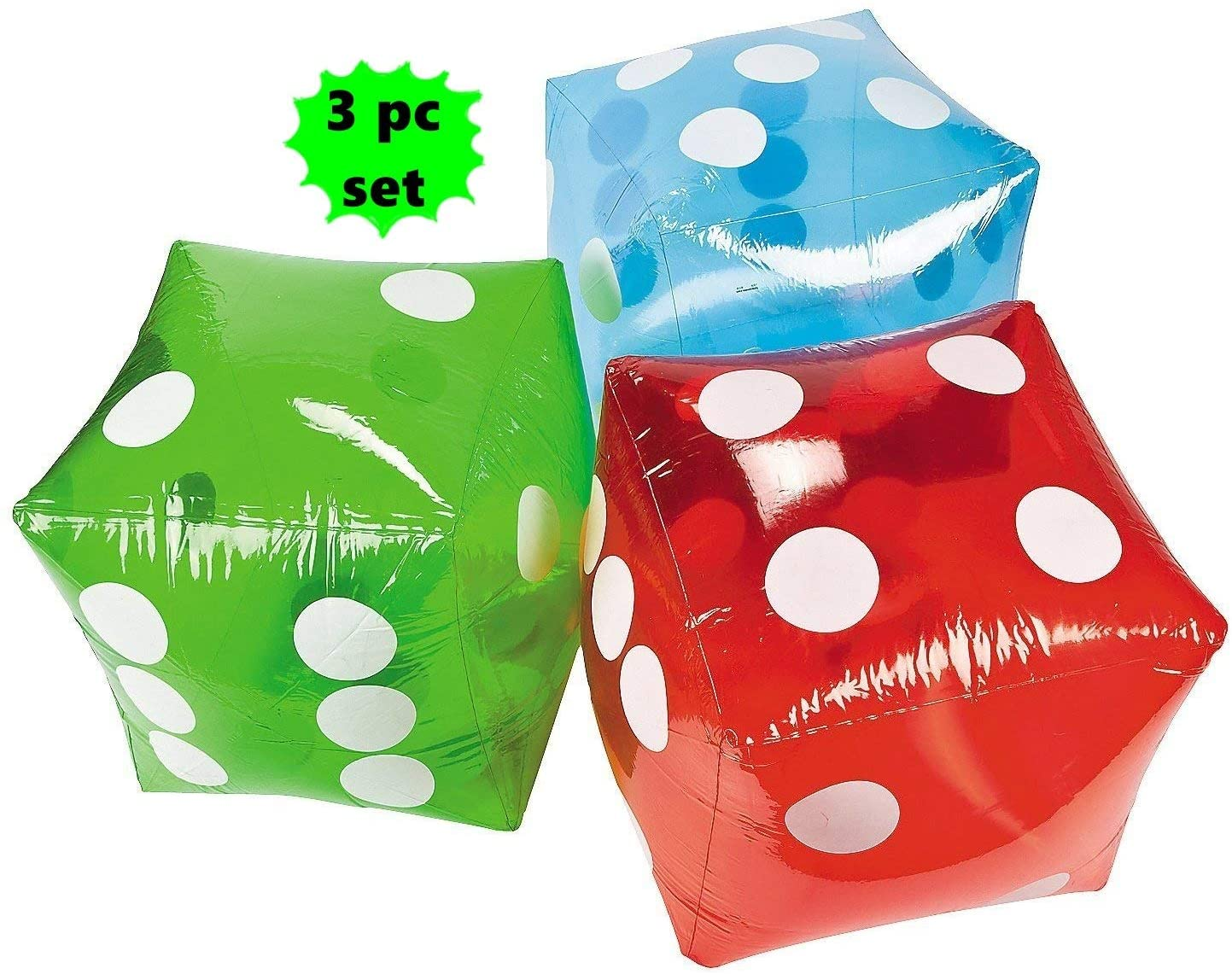 SET of 3 ~ Giant inflatable dice - 16