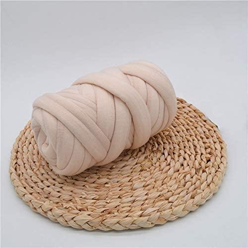 Braid Cotton Yarn Supre Large for arm Knitting DIY Handmade Blankets pet beds Machine Washable Khaki 25M(82 ft)