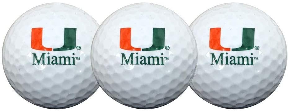 Team Effort Miami Hurricanes Golf Ball 3 Pack