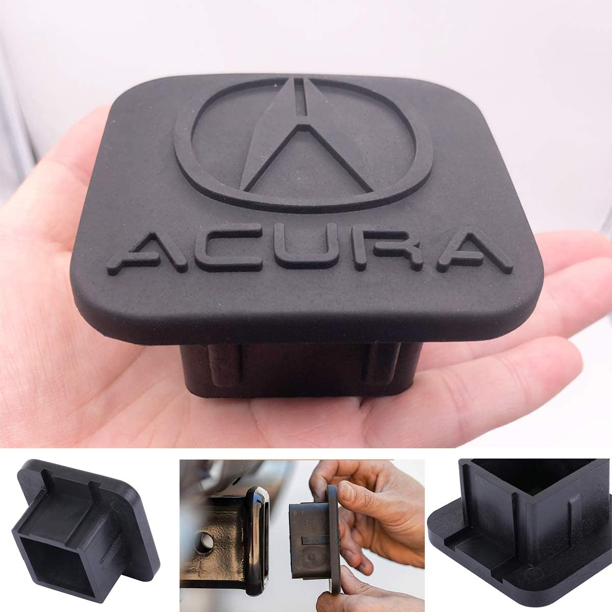Trailer Hitch Tube Cover Plug Cap for Acura,Rubber Receiver Tube Hitch Plug,Trailer Hitch Cover (fit Acura)