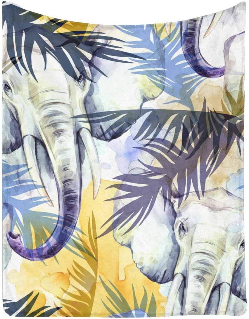 "InterestPrint Flower Butterfly Bird Dragonfly 60"" x 80"" Ultra Soft Micro Fleece Blanket for Kid Baby Adults"