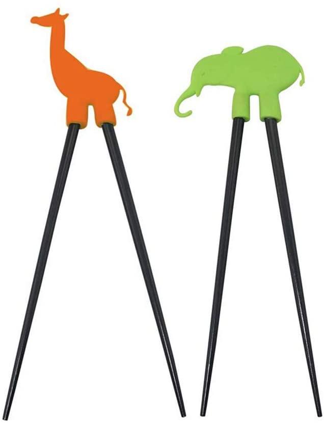 Kids Silicone Animal Chopsticks - Set of 2 - Suprirse Animal (Giraffe, Elephant or Monkey)