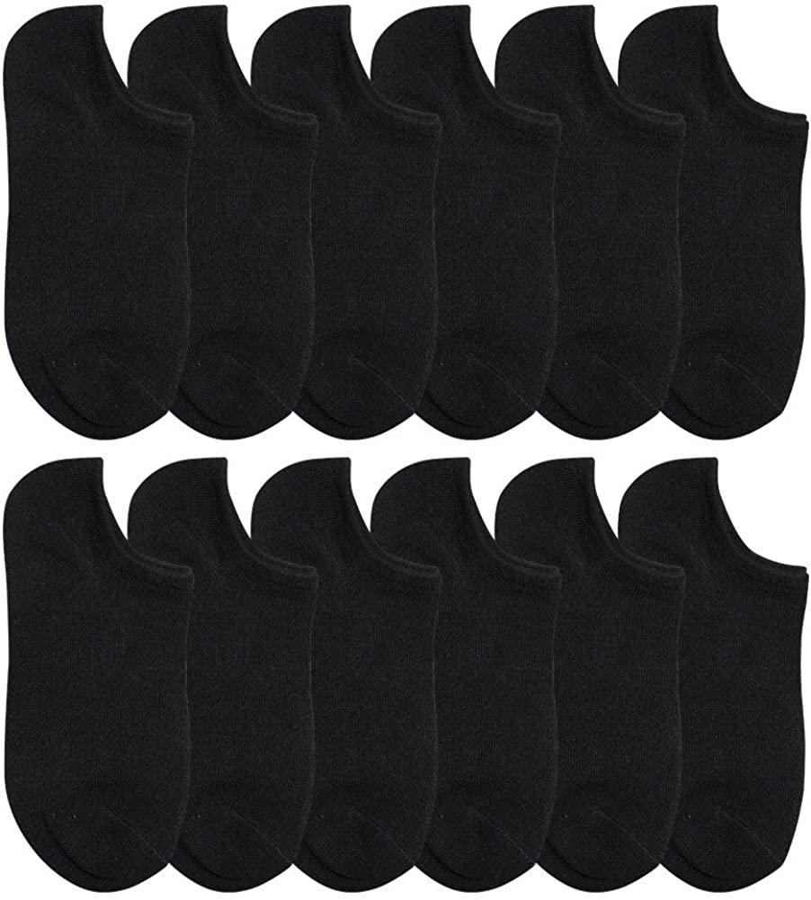 BEAR MUM Women's 12 Pairs Everyday Low Cut/No Show Causal Socks