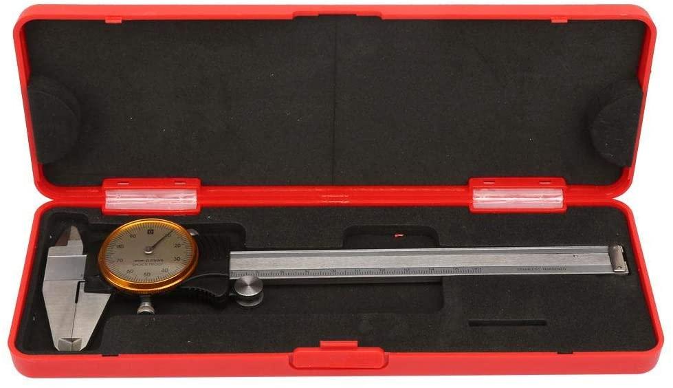 Vernier Caliper,0~150mm Dual Direction Shock Proof Vernier Caliper with Gauge