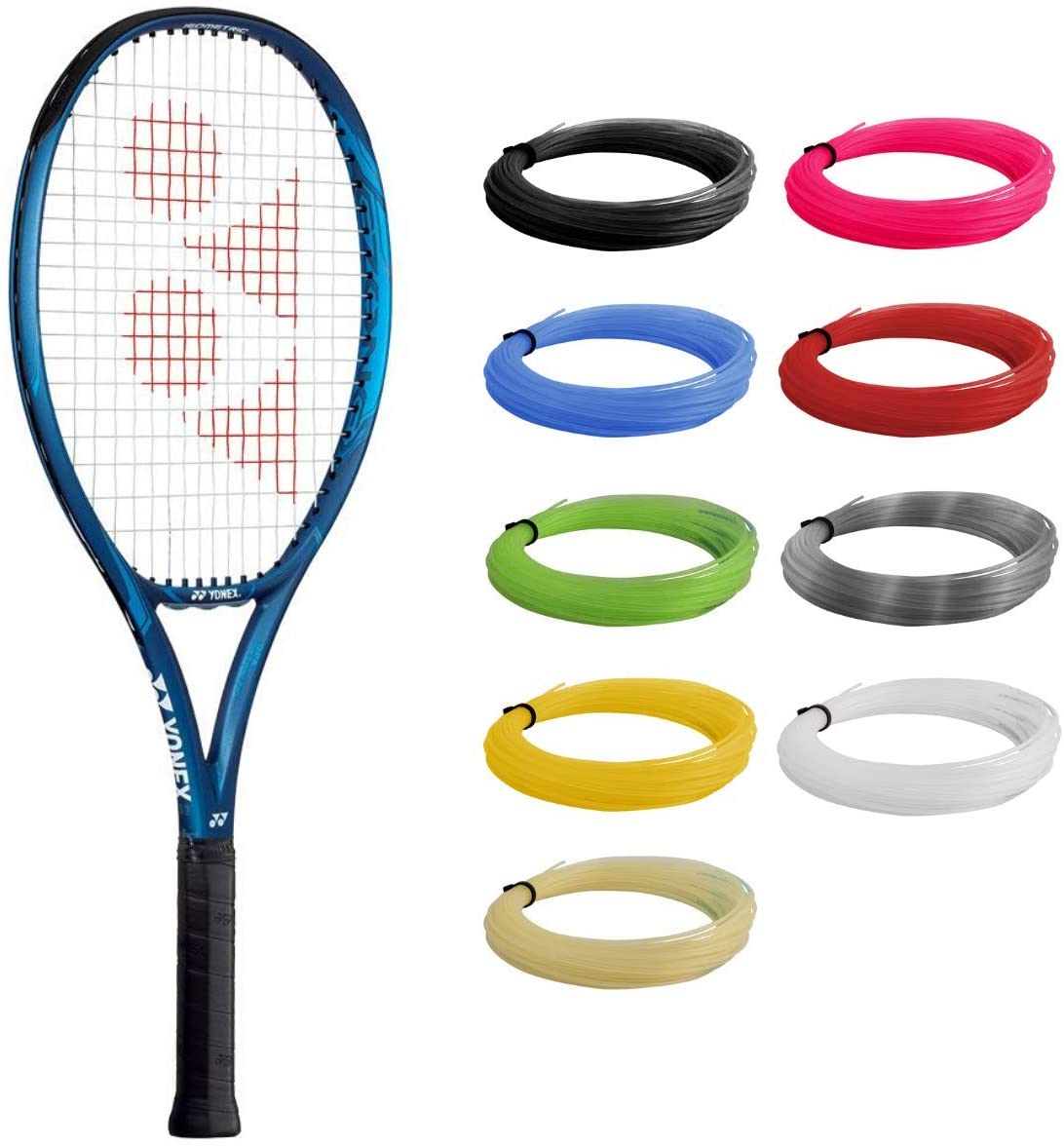 YONEX EZONE 25 Deep Blue Tennis Racquet Strung with Black Synthetic Gut Racket String (Made for Junior Players About to Move Up to Their First Adult Frame)
