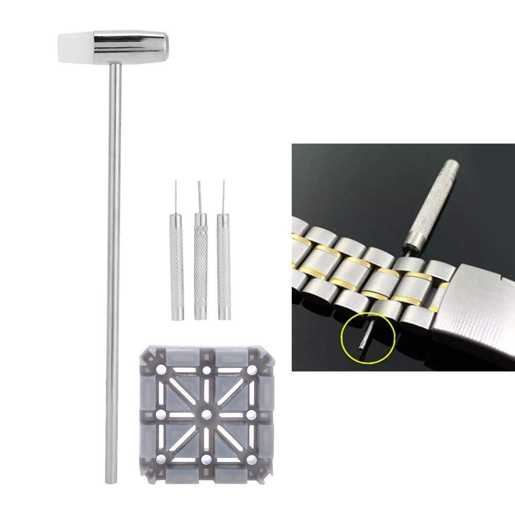 Watch Band Remover, Rustless Durable Lightweight with Hammer Watch Band Tool, Professional for Watch Repair Watch Band