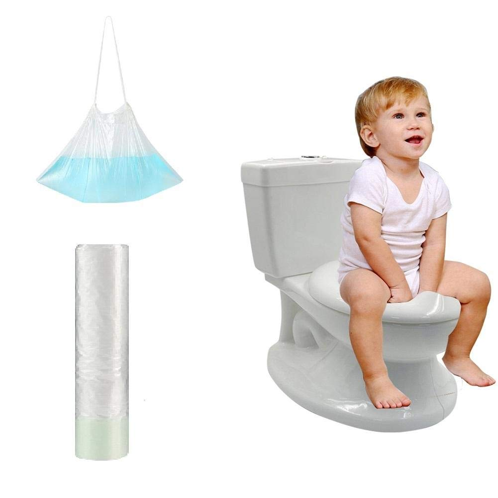 Disposable Baby Potty Liners Cleaning Bag, Portable Potty Liners Disposable with Drawstring Universal Training Toilet Seat Potty Bags Cleaning Bag for Kids Toddlers