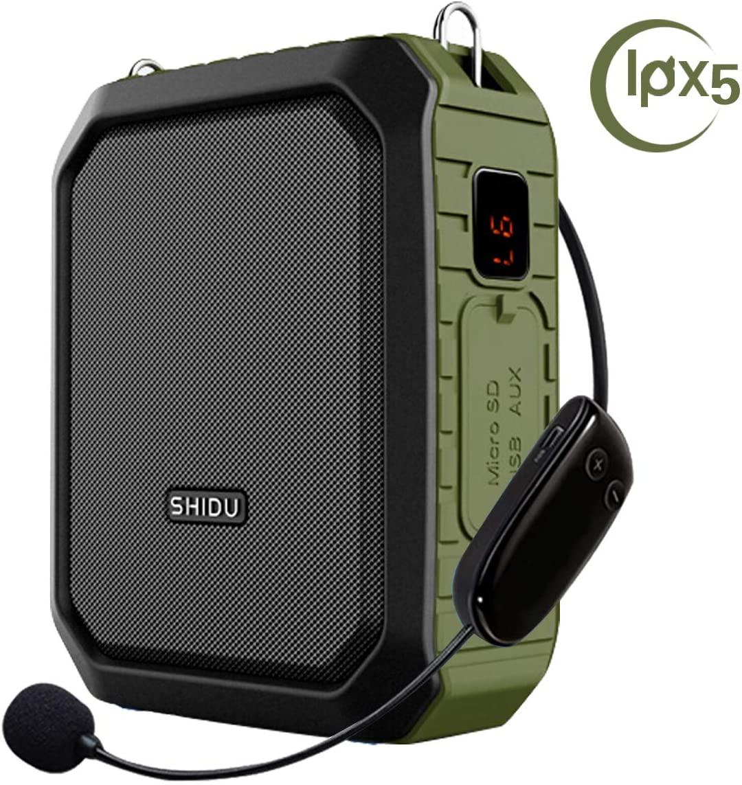 Wireless Voice Amplifier with Headset Mic 18W Voice Loudspeaker Portable Bluetooth Speaker Waterproof IPX5 Power Bank for Outdoor Activities, Shower, Teachers, Presenter, Salesman etc