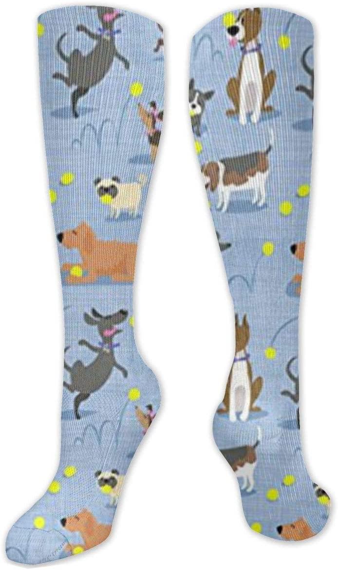 NOT Tennis Dogs Love Ball Compression Socks for Women & Men Funny Novelty Athletic Crew Socks