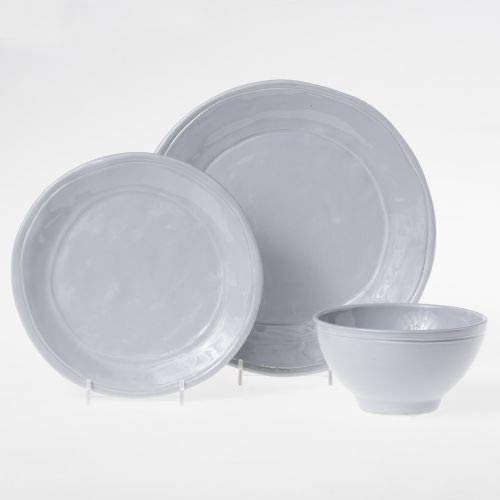 Vietri Viva Fresh 3-Piece Place Setting - Gray