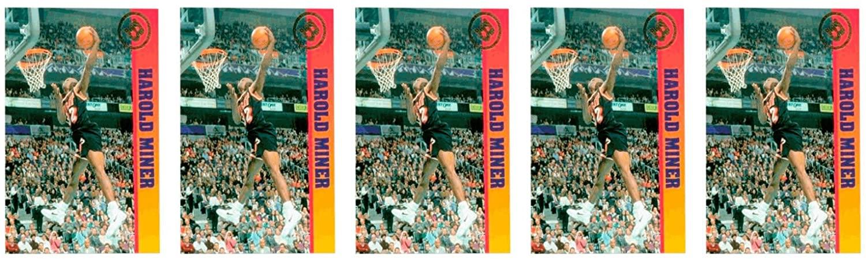 (5) 1993 Ballstreet Harold Miner Basketball Card Lot Miami Heat