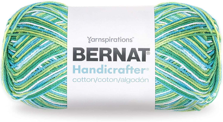 Bernat Handicrafter Cotton Yarn, Gauge 4 Medium Worsted, Emerald Energy