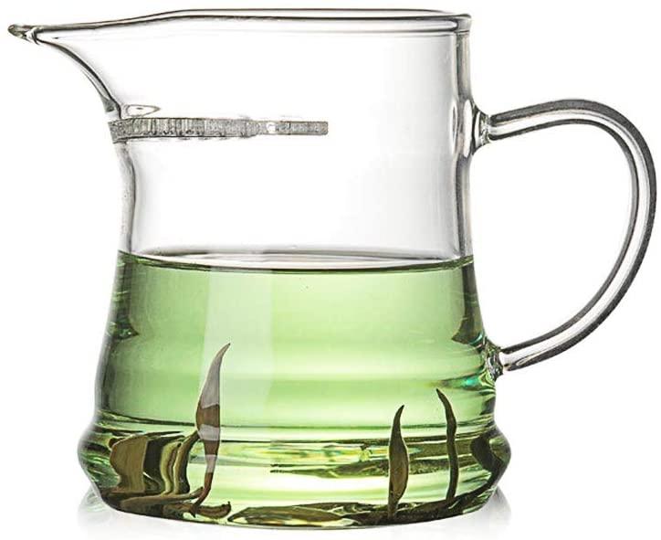 HONGYAN Heat-resistant glass tea divider River room glass tea set crescent fair cup pointed mouth green tea bubble tea cup tea sea wholesale