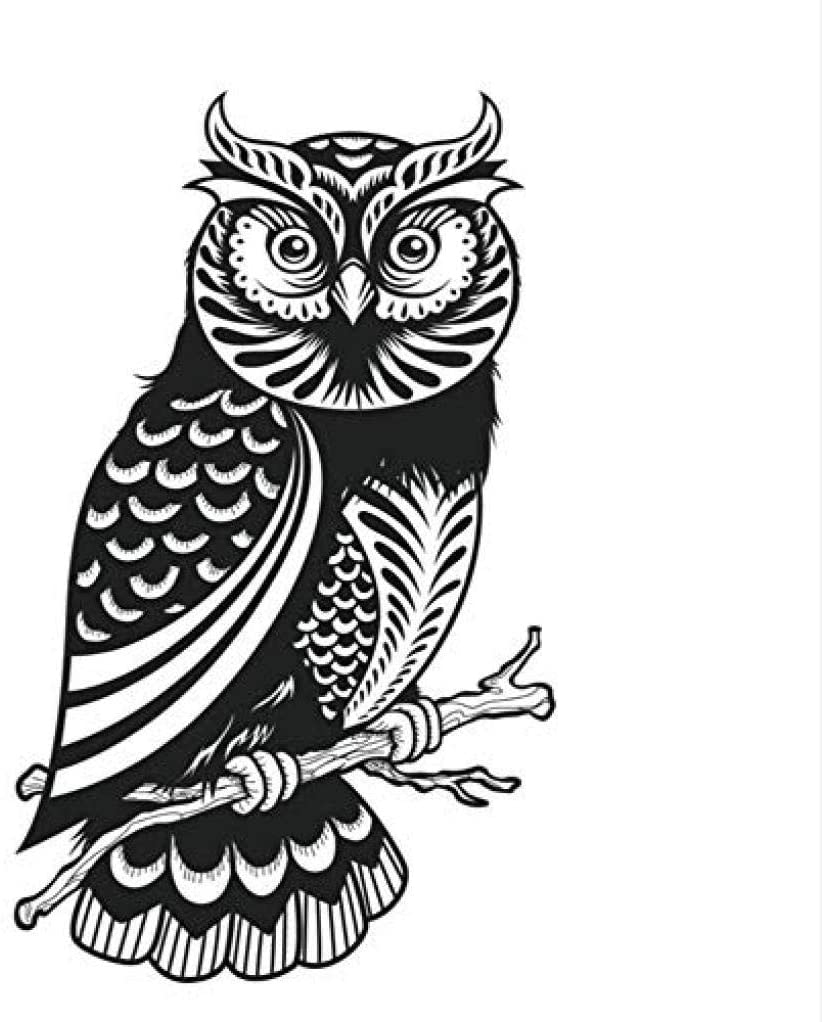asqwq Bedroom Cute Owl Wall Stickers for Kids Kids Decorating Vinyl Hollow Animal Wall Decal Wallpaper 44 73Cm