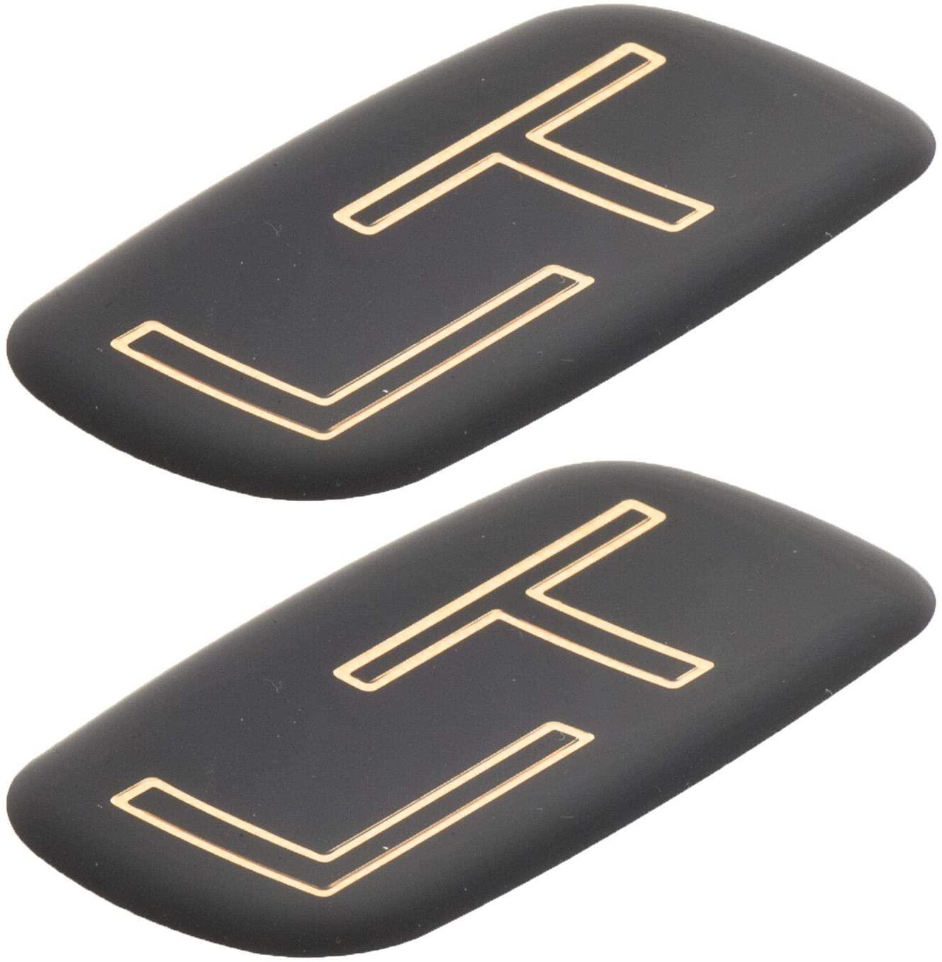 Pair Set LT Rear Emblem Badge logo 99-07 Silverado Suburban Tahoe Bowtie compatible with Silverado Tahoe Suburban (Gold Black)