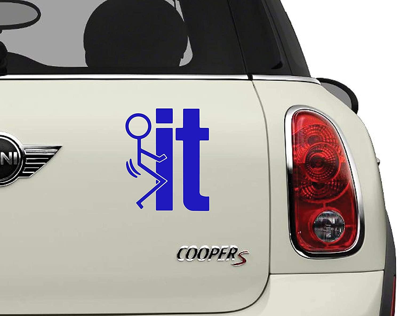 FK IT Funny Blue 420 Friendly Automotive Decal/Bumper Sticker