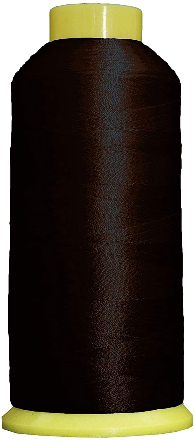 Threadart Polyester Machine Embroidery Thread | Huge 5000M (5500 Yard) Cones 40wt | For Brother Babylock Janome Singer Pfaff Husqvarna Bernina Embroidery and Sewing Machines | No. 300 - Mahogany - 160 Colors Available