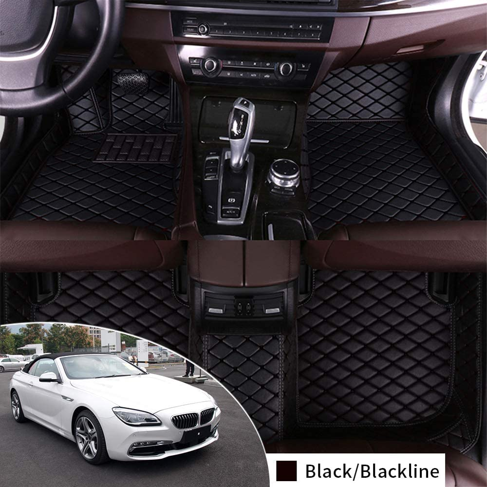 Complete Set Custom Floor Mat for BMW 640i 650i F12 2011-2016 Convertible Full Protection Car Accessories Black 3 Piece Set