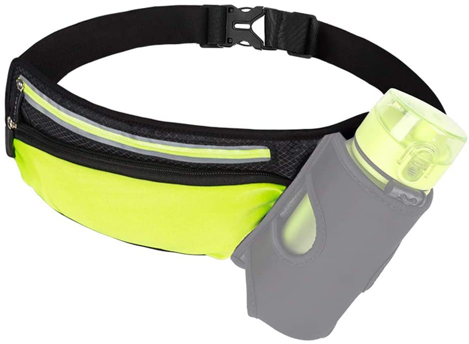 Meichoon Waist Pack Night Reflective, Portable Running Belt for Men Women Kids Large Capacity for Hiking Fitness Outdoors Workout Race Marathon Cycling Climbing Camping XB04A