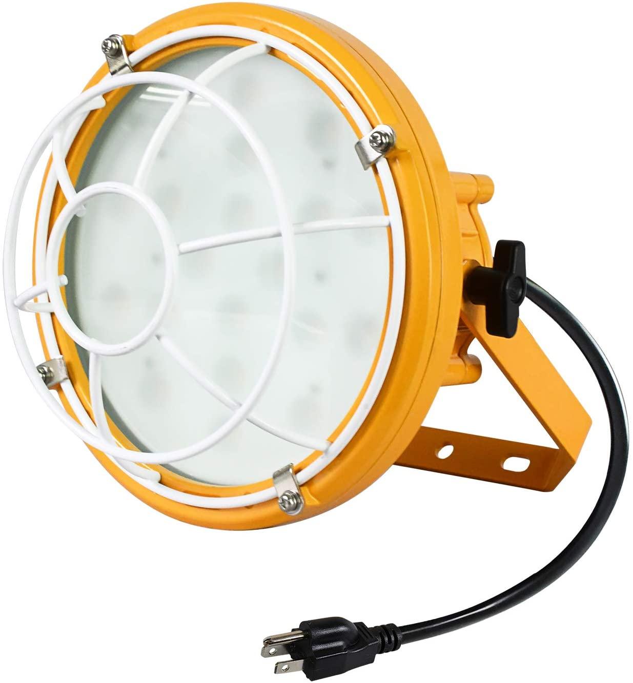 Lawind LED Dock Light 50W Soft Light Head Only, LED Garage Lighting,Shop Lights 5000K Ceiling Light for Workshop Basement, Outdoor, Waterproof Exterior Security Wall Light for Patio, Garden,Yard
