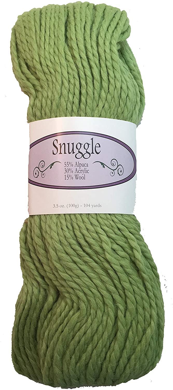 Snuggle Bulky Alpaca Yarn - 104 yds per 100g/3.5 oz (6762 Spring Green)