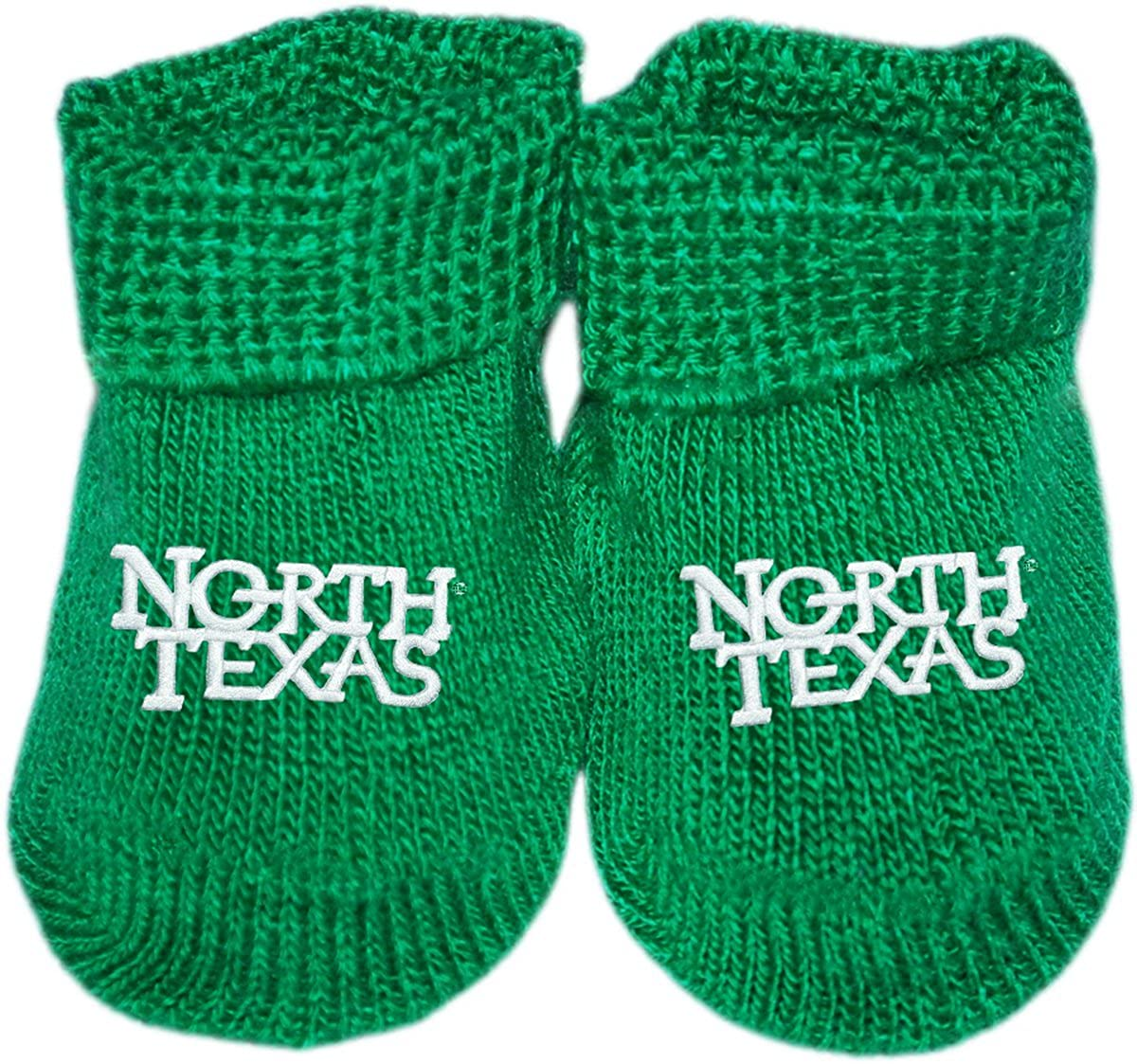 University of North Texas Newborn Baby Bootie Sock