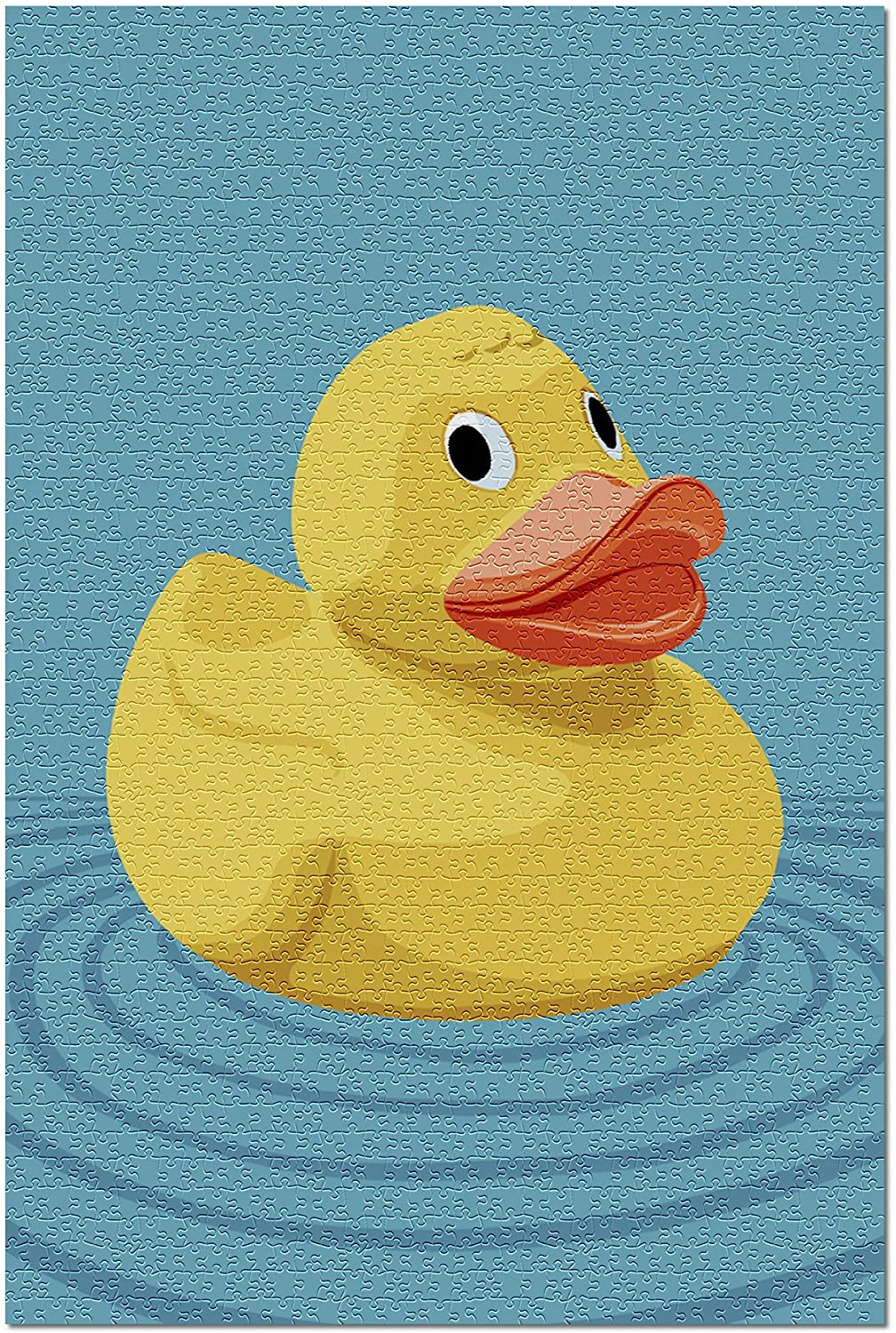 Rubber Duck - Letterpress (Premium 1000 Piece Jigsaw Puzzle for Adults, 19x27)