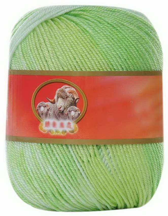 3 Babies' Yarn Balls Sweater Scarf Knitted Thread Yarn DIY Yarn White Green Yarn