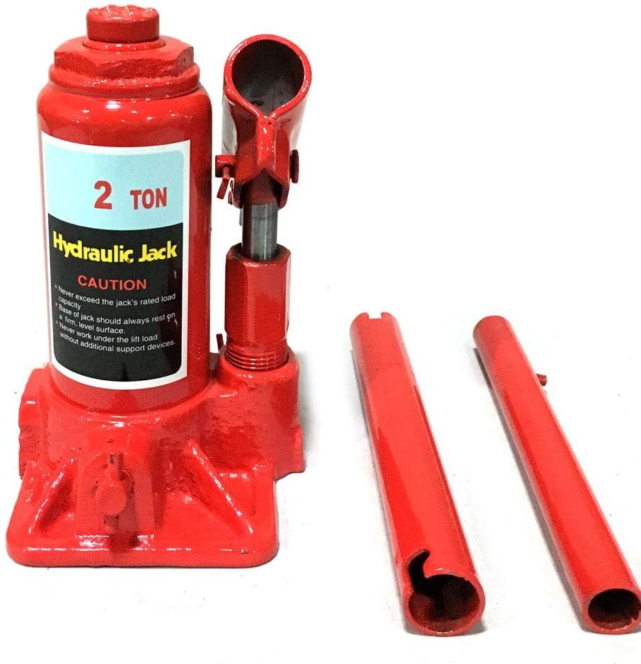 PARTS-DIYER Hydraulic Bottle Jack Automotive Car Repair Shop Lift Tool Red (2 Ton)