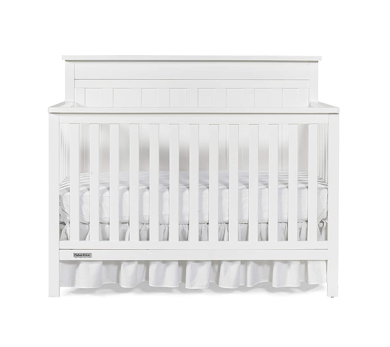 Fisher-Price Baldwin 4-in-1 Convertible Crib, Frost White