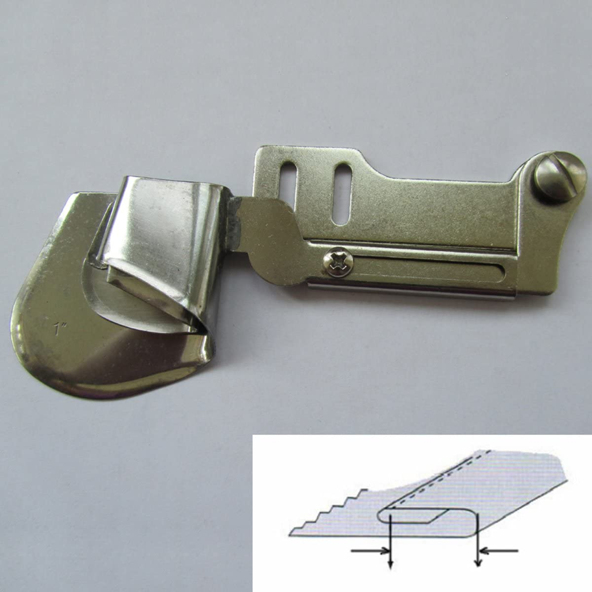 ckpsms Brand - #KL-51 1PCS Hemmer fit for Most Industrial Single Needle Sewing Machines (1/2