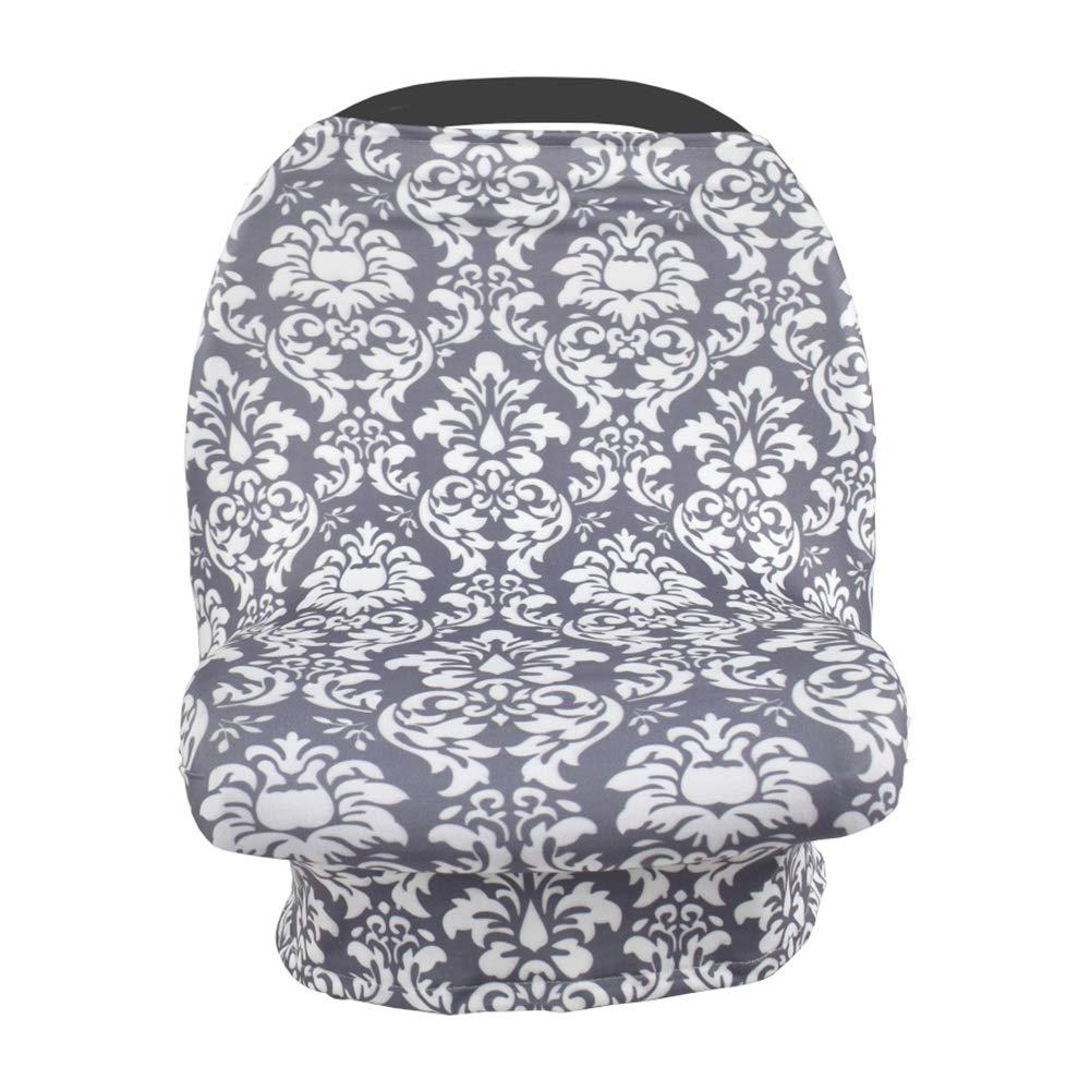 Nursing Cover for Newborn Breastfeeding Multi Use Infant Stroller Canopy Unisex Baby Car Seat Cover High Chair Cover Shopping Cart Cover for Baby Boy and Girl (Black)