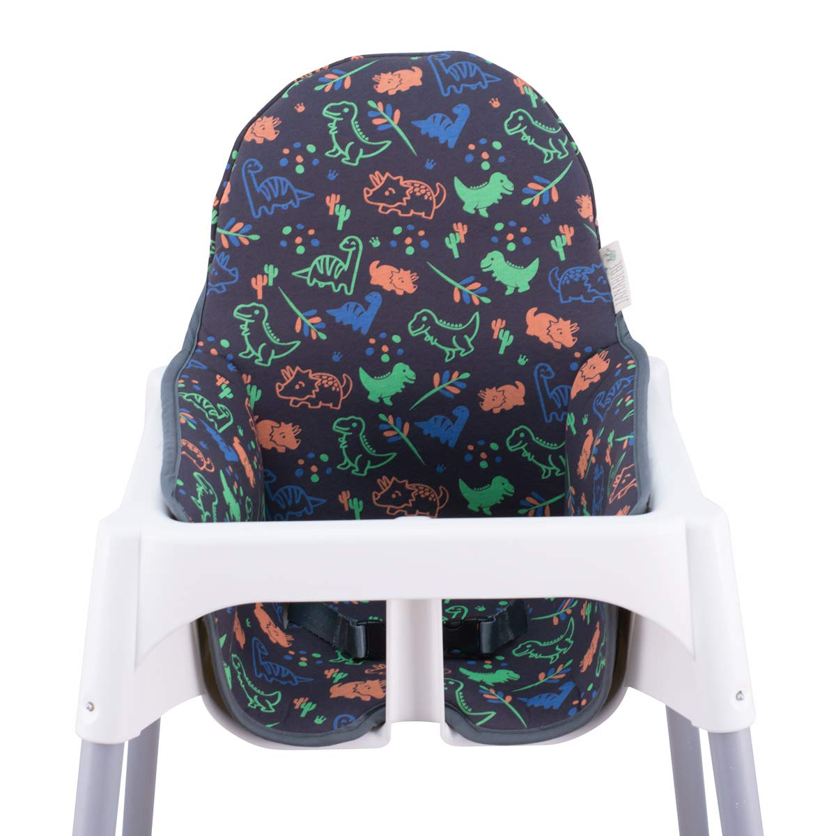 JANABEBE Cushion Compatible with high Chair IKEA Antilop (Happy Dino)
