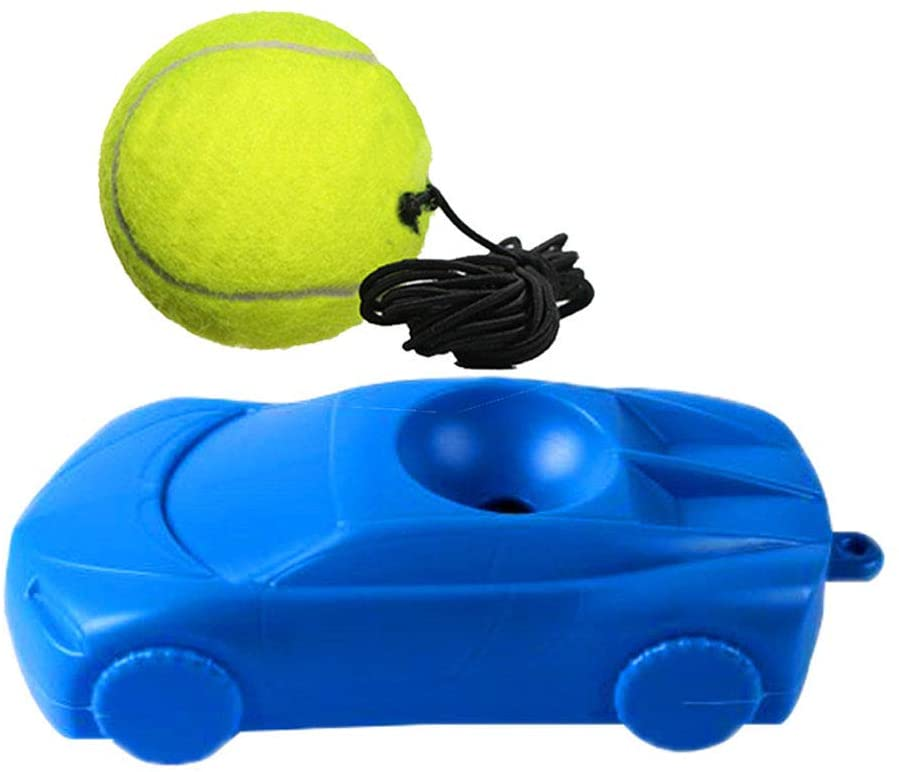 UUME Retractable Rebound Ball Practice Singles Rebound Tennis Trainer Training Tennis Tool Self-Study Training Aids Training Tool