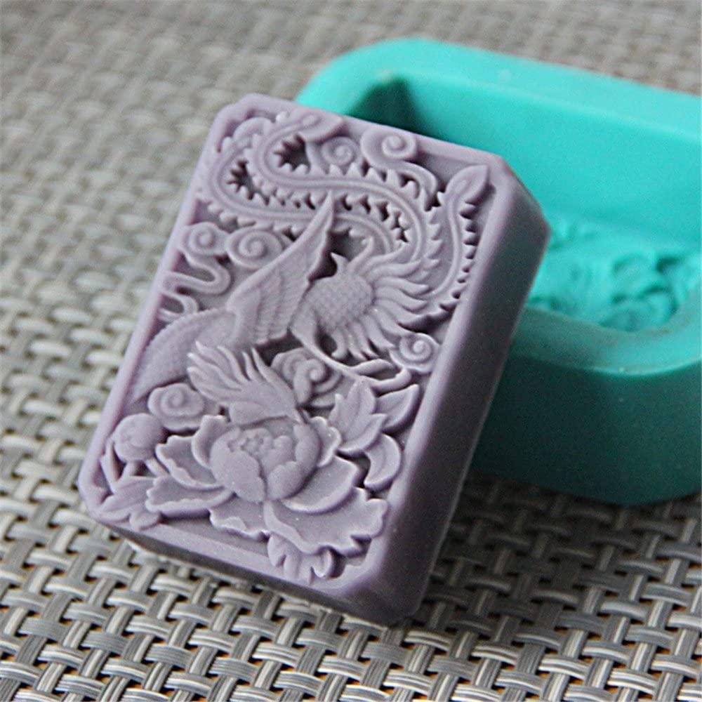 Bird Mold Silicone Soap Bar Mold for Handmade Melt & Pour Soap 2.96 oz