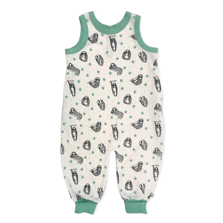 Finn + Emma Organic Cotton Sleeveless Baby Jumpsuit - Sloths, 2T-3T
