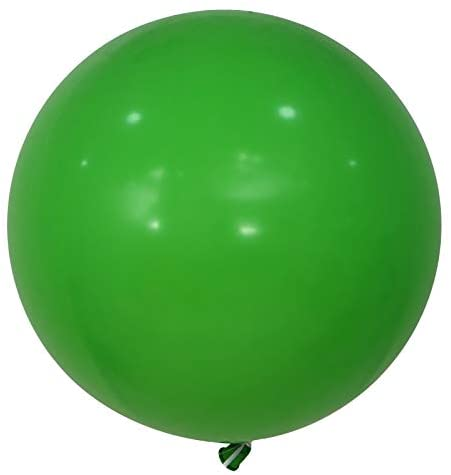 Kubert 36 Inch Big Round Balloons 10 Pack Green Thick Giant Balloons for Photo Shoot Wedding Baby Shower Birthday Party Decorations