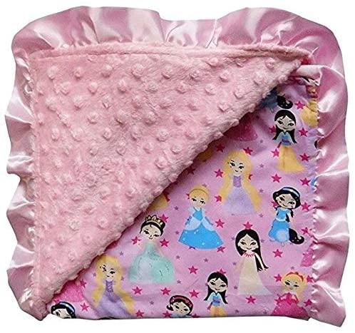 Textured Minky Dot Baby Infant Toddler Blanket with Satin Trim Novelty Boys Acetate